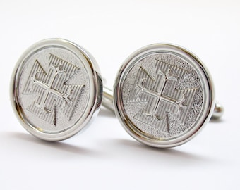 Byzantine Cross Silver Crusaders Cufflinks Silver Cross Cuff Links Byzantine Empire