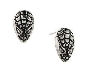 Earrings Spiderman Black Mask Stud Post Earrings superhero Collection Jewelry