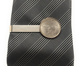 Tie Clip Michigan State Quarter Enamel Coin Tie Bar Souvenir Coins Keepsakes Cool Fun Collector Gift Box Boyfriend Gift