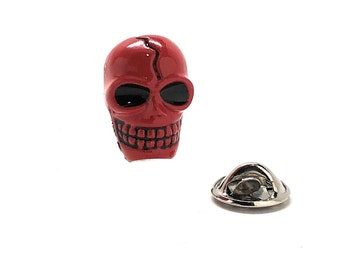 Red Skull Enamel Pin Marvel Comics Supervillain Lapel Pin Comes in Red or Silver Tie tack Tie Pin Boyfriend Gift Captain America for dad