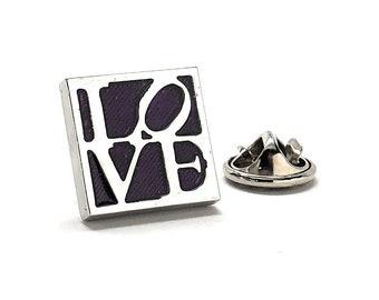 Love Enamel Pin, All You Need is Love Lapel Pin Dark Purple