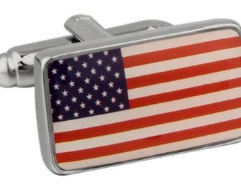 American Flag Cufflinks United State of America US Flag Cuff Links