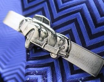 Classic Car Tie Bar Silver Tone Back in the Day Tie Clip