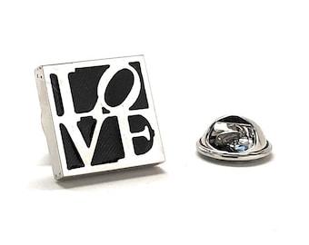 Love Enamel Pin, All You Need is Love Lapel Pin Black