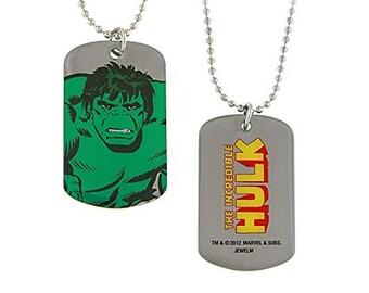 Dog Tag Hulk Smash Double Sided Marvel Comics Dog Tag vintage jewelry