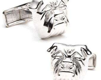 French Bulldog Cufflinks Dog Owner Bulldog Head Sterling Silver Cuff Links Dog Lover Gifts