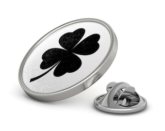 Lucky Lapel Pin Four Leaf Clover Metal Pin Irish Luck Ireland Love Tie Tack Lucking Black Clover Leaf Shamrock