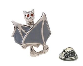 Crazy Bat Enamel Pin, Red Eyes Lapel Pin