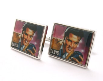 The King Elvis Presley Cufflinks Music Rock and Roll Cuff Links