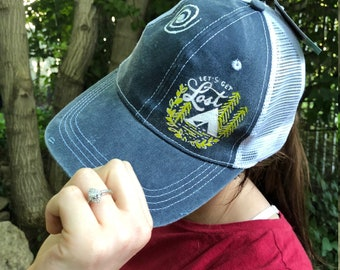 Trucker Hat Mesh Baseball Snapback Cap Adjustable Flat Visor Plain Hip Hop Mens Custom