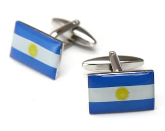 The Nation of Argentina Flag Cufflinks Cuff Links