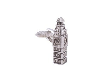 International Collection Cufflinks Silver Big Ben London British Iconic 3D Tower Dress Detailed Cuff Links
