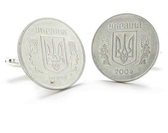 Birth Year Birth Year Ukraine Coin Cufflinks Cuff Links Eastern Europe Ukrainian Russia Kiev Kharkiv Coin Cufflinks Comes with Box