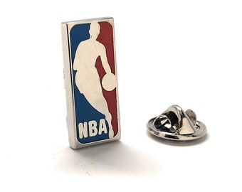 Enamel Pin Basketball Lapel Pin 2 Different Styles to Choose From Tie Tack Basket Ball Court B-Ball
