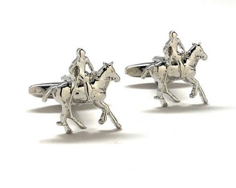 Polo Player Cufflinks Horse Rider Championship Heritage Classic Cool Cuff Links Comes with Gift Box Custom Cufflinks