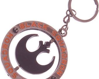 Key Chain Star Wars Black Rebel Squadron Symbol Fighter Pilot Key Ring