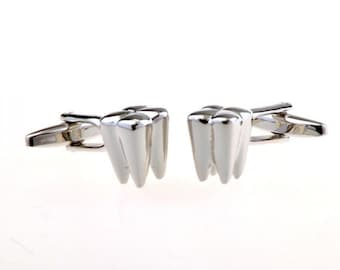 Dr. of Dentistry Cufflinks Dentist Silver Tooth Doctor