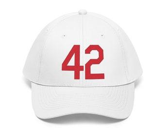 Unisex Twill Hat Number Forty Two Honoring Baseball's Barrier Breaker 42 Hat