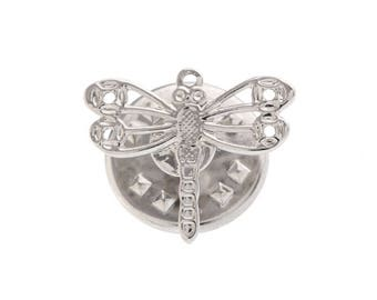 Enamel Pin Dragonfly Lapel Pin The Silver Tone Lucky Dragonfly Tie Tack