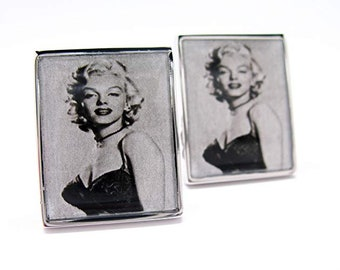Classic Hollywood Old School Bombshell  Cufflinks Marilyn Monroe Buff Film Industry Classic Cuff Links Comes with Gift Box