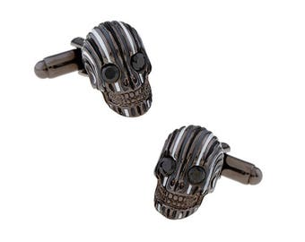 Hellbent Bandit Cufflinks Enamel Face Nightmare Cuff Links Skull Halloween Cuff Links Novelty Fun Part Cool Comes with Gift Box