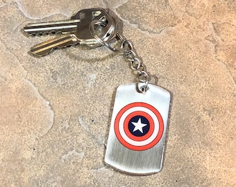 Captain America Key Ring with Chain Key Chain