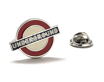 London Subway Pin The Tube Enamel Pin Underground Pin Famous Sign Tie Tack
