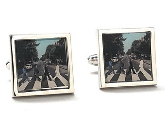 The Beatles Abbey Road Cufflinks Rock and Roll Cuff Links Music