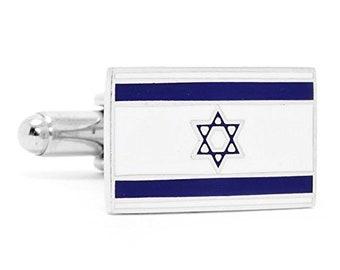 Israel Flag Cufflinks Cuff Links