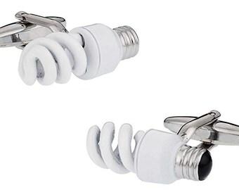 Light Bulb Cufflinks Florescence Cuff Links White Elephant Gifts