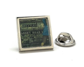 Enamel Pin The Beatles Abbey Road back cover artwork Lapel Pin Hard Enamel Pins Band Fans Lapel Pin Music Players famous art work