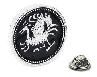 Enamel Pin Gaelic Rooster Lapel Pin, Tie Tack