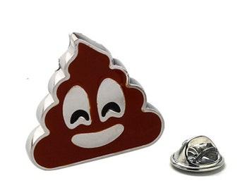 Poo Face Emoji Enamel Pin, Lapel Pin