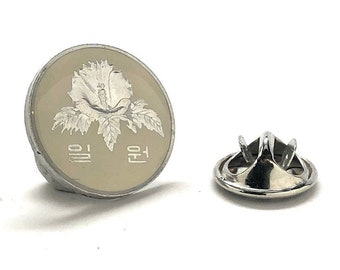 Enamel Pin South Korea Flower Coin Enamel Coin Lapel Pin Tie Tack Travel Souvenir Coins Keepsakes Cool Fun Gift Box
