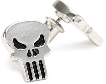 Earrings Punisher Vigilante Skull Stud Post Earrings superhero Collection Jewelry