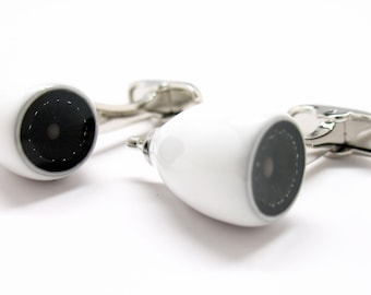 Jet Engine Cufflinks Love of Flying Heavy White Enamel Aircraft  Pilot Aviation Cufflinks Cuff Links Comes with Gift Box