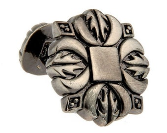 Pewter Middle Ages Cross Straight Post Whale Tail Backing Cufflinks Heavy Detailed Style Cuff Links