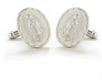 Cufflinks Virgin de Guadalupe Cuff Links Mexico Mexican Maria Mary Religious Religion Seminary Catholic Vatican Church Comes with Gift Box