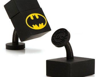 Batman (4GB) USB Cufflinks Novelty 1 x 1 in  Black BatShow Off Your Hero Keepsakes Cool Fun Collector Comes Gift Box