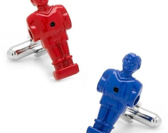 Red and Blue Unique Foosball Cufflinks Table Football Game Cufflinks Cuff Links