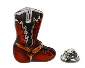 Western Cowboy Boot Lapel Pin, Enamel Pin