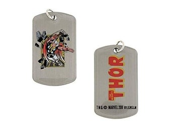 Dog Tag Red Marvel Comics Thor Action Fighting Dog Tag Chain Pendant Necklace vintage jewelry