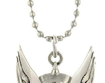 Necklace Thor Silver Tone Cut Out Helmet Superhero Pendant Necklace vintage jewelry