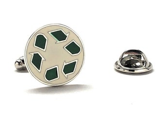 Recycle Symbol Pin Famous Signs Themed Cufflinks Recycling Cuff Links White Elephant Gifts