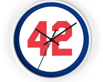 Wall clock Number Forty Two Honoring Baseball's Barrier Breaker baseball gift Baseball Clock Boyfriend Gift Gift for dad Gift for Boss