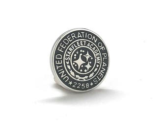 Enamel Pin United Federation of Planets Collector Lapel Pin Starfleet Academy 2258 Cadet Training Badge Graduation Star Fleet Insignia
