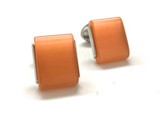 Stodder River Slip Stone Cufflinks Polished Wedge Cuff Links Whale Tail Backing Comes with Box