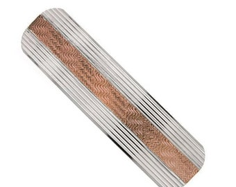 Silver and Copper Hair Barrette, Hair Accessories