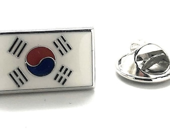 South Korea Enamel Pin Korean Flag Lapel Pin Tie Tack Collector Pin Authentic Flag