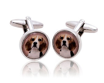 Man's Best Friend Beagle All Dog Lovers Cufflinks Cuff Links Custom Cufflinks